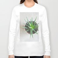 succulent Long Sleeve T-shirts featuring Succulent by OldRedCanoe