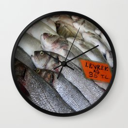 Freshwater Perch for Sale Wall Clock