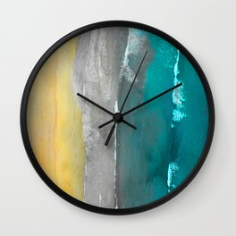 Watercolour Summer beach II Wall Clock