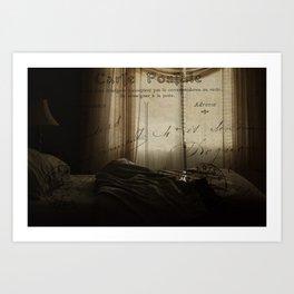 Waking up in Paris Art Print