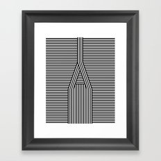 A Line Framed Art Print