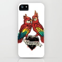 Lover Parrots iPhone Case