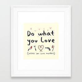 Motivational Poster Framed Art Print