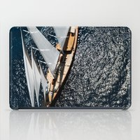 sailboat iPad Cases featuring sailboat by laika in cosmos