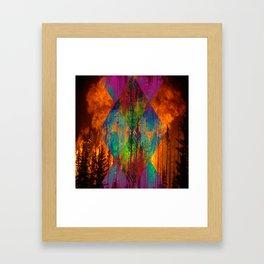 Elements : Fire Framed Art Print