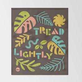 Tread Lightly Throw Blanket