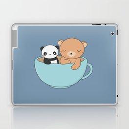 Kawaii Cute Brown Bear and Panda Laptop & iPad Skin