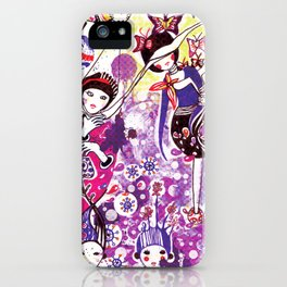 The case of purple spot sickness iPhone Case