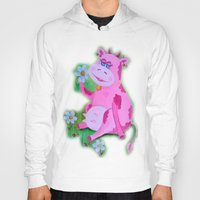 cow Hoodies featuring Cow by OLHADARCHUK