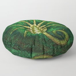 Facehugger (green) Floor Pillow