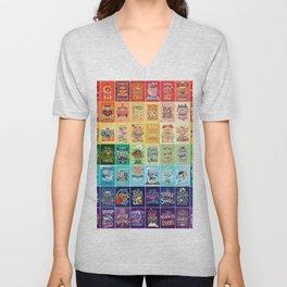 Rainbow of Posters Unisex V-Neck