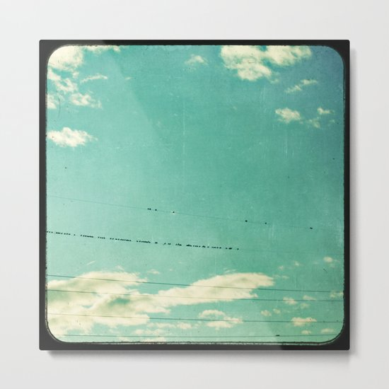 another day on the line Metal Print