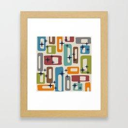 Retro Mid Century Modern Abstract Pattern 224 Framed Art Print