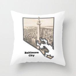 Washington Monument, Baltimore MD Throw Pillow