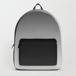 Black to White Horizontal Linear Gradient Backpack