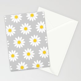 Daisies in Gray Stationery Cards