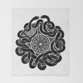 Tangled Serpents at Midnight Throw Blanket