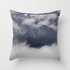 Cold Columbia Gorge Morning Staring Into Washington's Mountains Throw Pillow