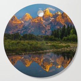 Grand Tetons Lake Reflections - Wyoming Cutting Board