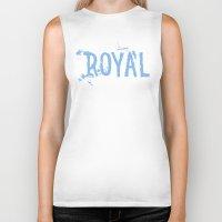 royal Biker Tanks featuring Royal by Black Bottle Art co.