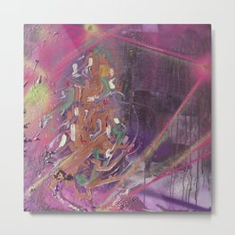Purple Lightning Metal Print