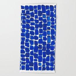 Brick Stroke Blue Beach Towel