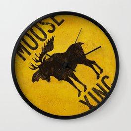 Moose Crossing XING Wall Clock
