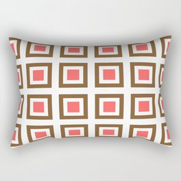 Chocolate Brown + Coral: Pattern No. 13B Rectangular Pillow