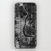london map iPhone & iPod Skins featuring London Map by Le petit Archiviste