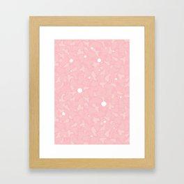 Light Pink Cammo Framed Art Print