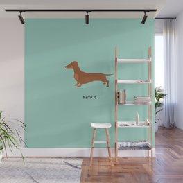Frank the Dachshund Red sausage dog chocolate dachshund Wall Mural
