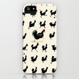 Chickens running iPhone Case