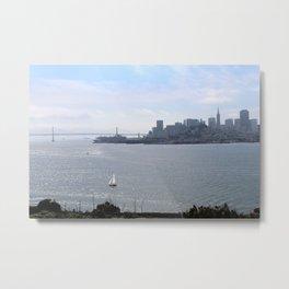 Downtown SF from Alcatraz Metal Print