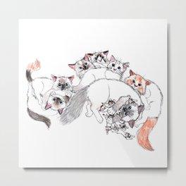 Cats Family Portrait Metal Print