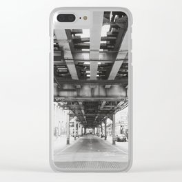 Follow the Tracks Clear iPhone Case