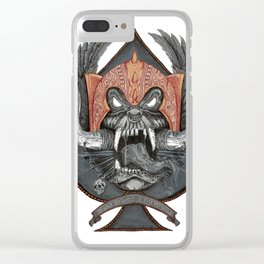 Motorhead Warpig Crest Clear iPhone Case
