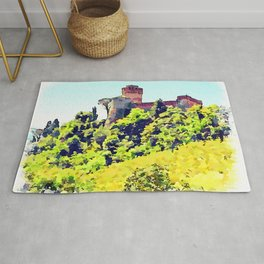 Brisighella: castle Rug