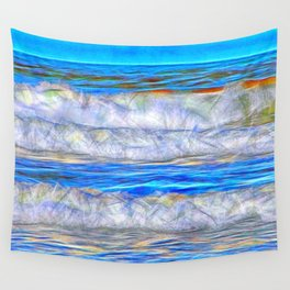Abstract beautiful ocean waves Wall Tapestry