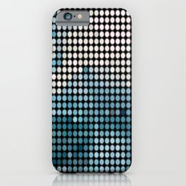 Bright Lights of Vegas blue and white sequin print  iPhone Case