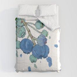 Blueberry Splatter Comforters