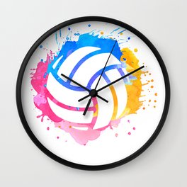 Volleyball Gift Player Coach Mom Daughter School Wall Clock