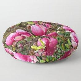 Magnolias rose Floor Pillow