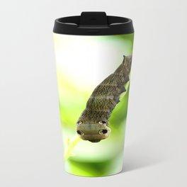 Caterpillar On A Green Plant #decor #society6 Travel Mug
