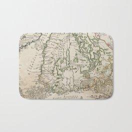 Vintage Map of Finland (1740s) Bath Mat