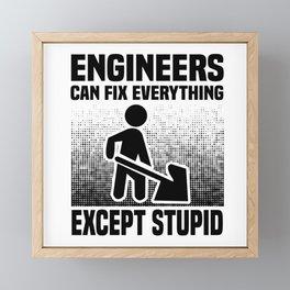 Engineer Crafts Mechanic Gift Framed Mini Art Print