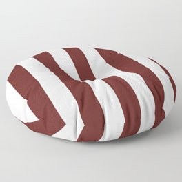 Philippine brown - solid color - white vertical lines pattern Floor Pillow