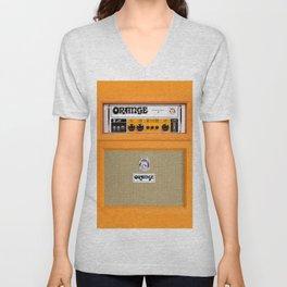 Bright Orange color amplifier amp Unisex V-Neck