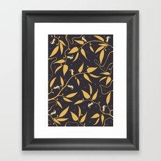 Gold Pattern Framed Art Print