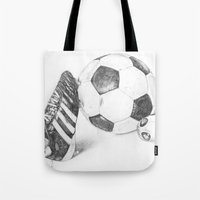 football Tote Bags featuring Football by Dianadia