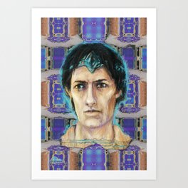 A hologram from Fayum Art Print